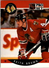 1990-91 PRO SET HOCKEY KEITH BROWN CARD #49 CHICAGO BLACKHAWKS NMT/MT-MINT