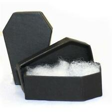 5 Coffin Jewelry Gift Boxes Spooky Black Gothic Casket Box Halloween Horror Lot