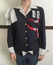 WOMENS REDMUTHA SMALL UNIQUE RECONSTRUCTED BLOUSE SHIRT TOP ONE OFF FASHION