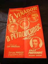 Partition El Vinador Yvette Horner A petaouchnoc Marcus 1954 Music Sheet