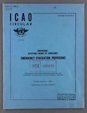 EMERGENCY EVACUATION PROVISIONS REPORT 1968 - SAFETY CARD - AIRLINE