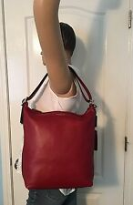 Coach Legacy Leather Deep Port Red Duffle Shoulder Bag 19889 EUC