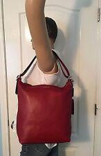 Coach Legacy Leather Deep Port Red Duffle Shoulder Bag 19889 EUC
