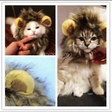 Cute! Pet Hat Costume Lion Mane Wig For Cat Halloween Dress Up With Ears Party