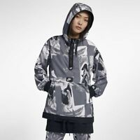 Nike NSW Printed Windbreaker Jacket Women's Black Grey White Outwear Activewear