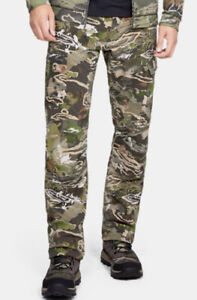 Under Armour Mens UA Field Ops Camo Pant 34/34 Forest Black Storm 1313212 940