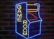 "New Game Room Arcade Neon Light Sign 20""x16"" Beer Gift Bar Real Glass"