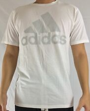 Adidas Men's Shirt The Go To Tee Cotton Shirt White Grey BU3656 Size XL