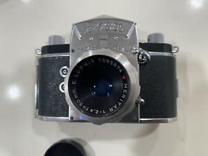 Exa Ihagee Dresden Camera With E. Ludwig Meritar Red V, 50mm F2.9 Lens
