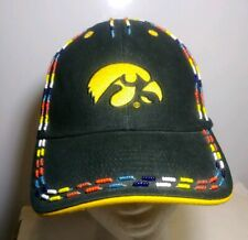 Unique Iowa Hawkeyes Hat With Beads Must See Signatures