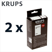 2 x Genuine Krups Descaling Powder Descaler Anticalc kit Coffee Espresso - F054