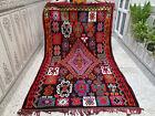 Handmade Vintage Moroccan Azilal Rug Berber Wool Rug Beni Ourain Tribal Carpet
