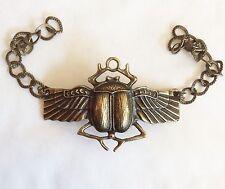 Escarabajo Escarabajo Alado Egipcio Símbolo De Bronce Tono Pulsera 20cm
