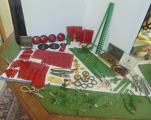 Vintage Early  Meccano  set over 200 pieces inc Motor