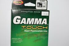 gamma touch super fluorocarbon fishing line 8lb 100yd spool clear