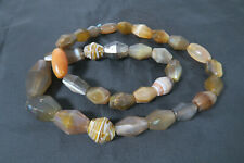 1 Strang alte Achatperlen B Karneol 1 strand Carnelian Stone trade beads Afrozip