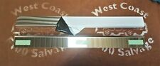 81-96 FORD F100 PARTS POLISHED STAINLESS DOOR SILL OUTER SCUFF PLATE PAIR L & R