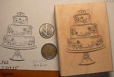 P60 Wedding Cake rubber stamp
