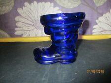 Cobalt Blue Glass Wellington Boot