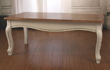 Coffee Table French Provincial Timber Top 'Louis' Table Furniture 120x60 NEW