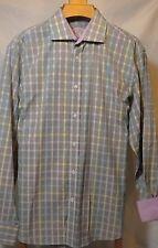 Bugatchi classic fit XL flip cuff button up long sleeve multi color 100% cotton