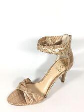 Vince Camuto Camden Women's Size 8 M La Crime Powder Glitz Suede Heel Shoes.
