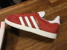 MENS RED ADIDAS GAZELLE SIZE 6 USED CONDITION