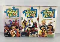 The Puzzle Place (VHS) LOT 3 Sing-Along Songs Tuned In Rock Dreams RARE Vintage
