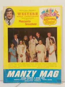 Western World Championship Manzanita Speedway Program 10/15/1977 Manzy Mag