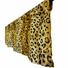 Gold leopard print velboa Kitchen Curtain Valance DRAPE kids room nursery