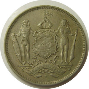 elfj British North Borneo  5 Cents 1903 H