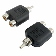 1 RCA Clavija macho de audio AV a 2 hembra RCA Conector del adaptador 2pzs W8E5