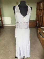 Lilac Grey Vintage Ghost Size L Delicate Ethereal Tea Style Dress