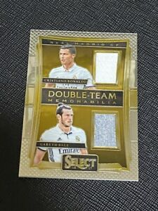 2016 Select Cristiano Ronaldo Gareth Bale Dual Jersey Card