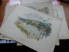 6 color prints Chas wilkinson original old Scarce Collectible's, Bundle,