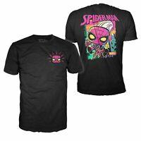 Funko Pop Tees Marvel Black Light Spider-Man T-Shirt Size M Medium, Target Excl