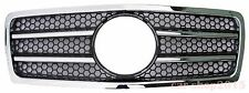 Mercedes Benz W210 Front Grille 1995-1999 Pre-Facelift Chrome&Black AMG Style