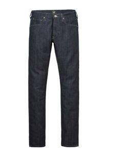 Lee Jeans Homme Rider Slim Fit Denim Pantalon Stretch Coton Bleu Rinser Wash