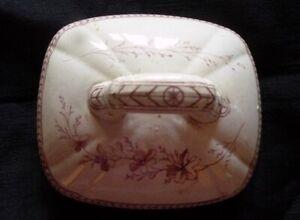 Decorative Eastlake Design 1870s Ceramic Ironstone Lid for a Sugar Bowl