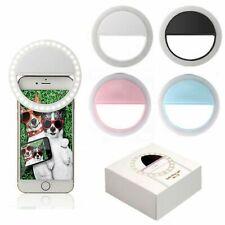Mini Rechargeable 36 LED Camera Clip Makeup Smart Phone Selfie Ring Light