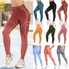 Women Seamless Leggings High Waist Yoga Pants Push Up Fitness Sports Gym Workout