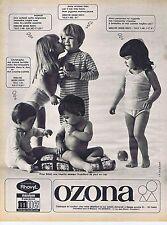 PUBLICITE ADVERTISING 015 1967 OZONA sous vêtement enfants