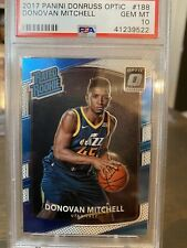 DONOVAN MITCHELL 2017-18 DONRUSS OPTIC ROOKIE PSA 10 GEM MINT