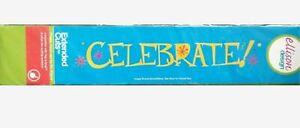 "Rare ""CELEBRATE"" Sizzix SIZZLITS Decorative Strip Die #22350 Discontinued 2005"