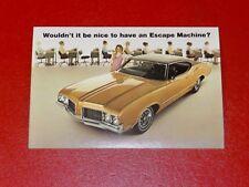 NOS 1970 Oldsmobile Cutlass S 2 door original advertising promotional postcard