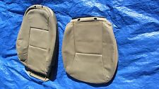 """02 03 Saab 9-3 Convertible Tan Driver Left Side Leather Seat Covers """"Turbo"""" logo"""