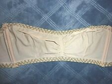 36A Vtg Vassarette Underneath it all Unlined Wire Free Strapless Bra