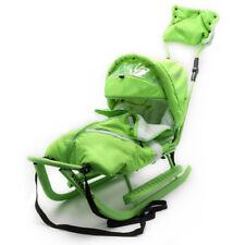 Schlitten Piccolino Komfort Grün Kinderschlitten Babyschlitten Fußsack Schieber