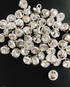 20 Rhinestone Silver Rim Bicone Sewing Shank Button 10mm/trim/craft/elegant Sb65