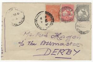 1921 Dec 4th. First Flight Cover. Perth to Derby. AAMC 56a.